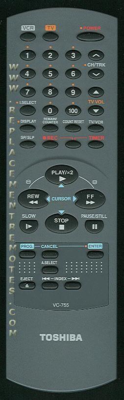TOSHIBA VC755 Remote Control