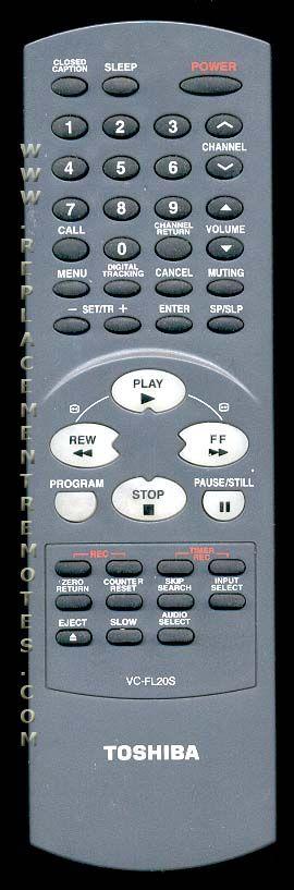 TOSHIBA VCFL20S TV/VCR Combo Remote Control