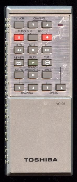 TOSHIBA VC36 VCR Remote Control