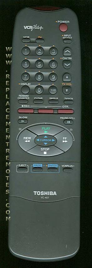 TOSHIBA VC45T Remote Control
