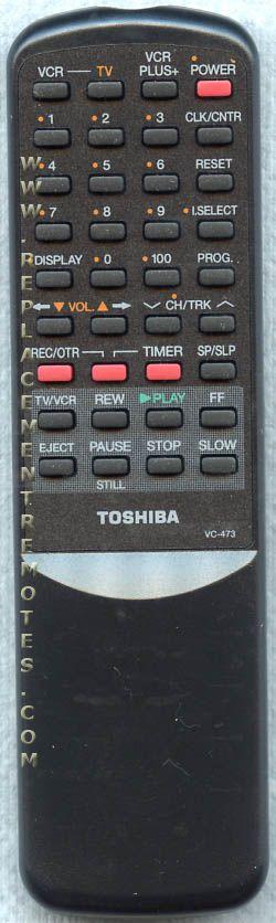 TOSHIBA VC473 VCR Remote Control