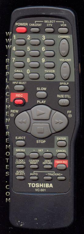 TOSHIBA VC501 Projector Remote Control