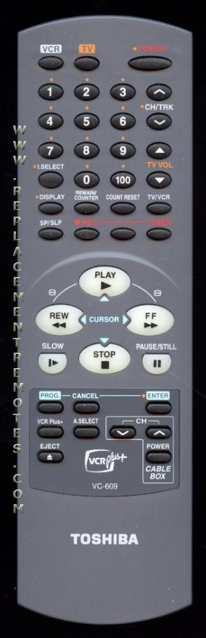 TOSHIBA VC609 Remote Control