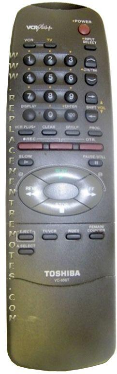 TOSHIBA VC656T VCR Remote Control