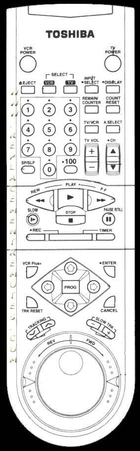 TOSHIBA VC705 Remote Control