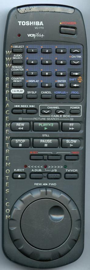 TOSHIBA VC770 Audio System Remote Control