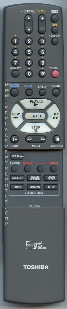 TOSHIBA VC804 Remote Control