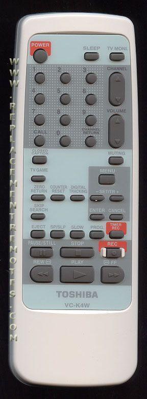 TOSHIBA VCK4W VCR Remote Control