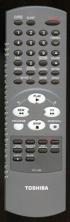 TOSHIBA VCL4B Remote Control
