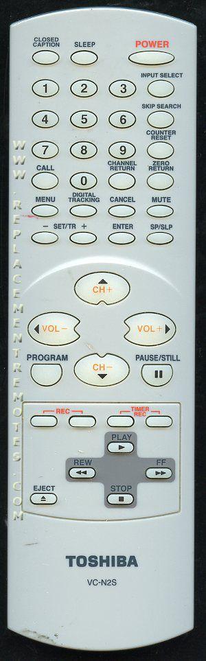 TOSHIBA VCN2S TV/VCR Combo Remote Control