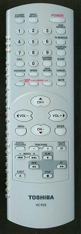 TOSHIBA VCP2S VCR Remote Control