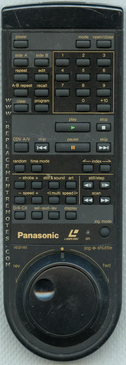 Buy Panasonic Veq1185 Laser Disc Player Remote Control