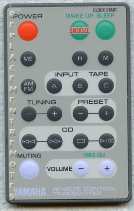 YAMAHA VJ826800 Audio System Remote Control