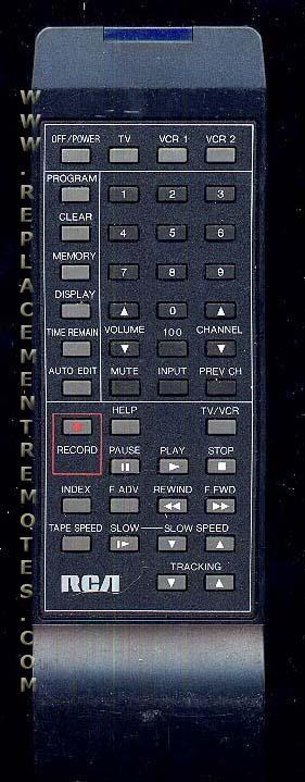 RCA VR322 VCR Remote Control