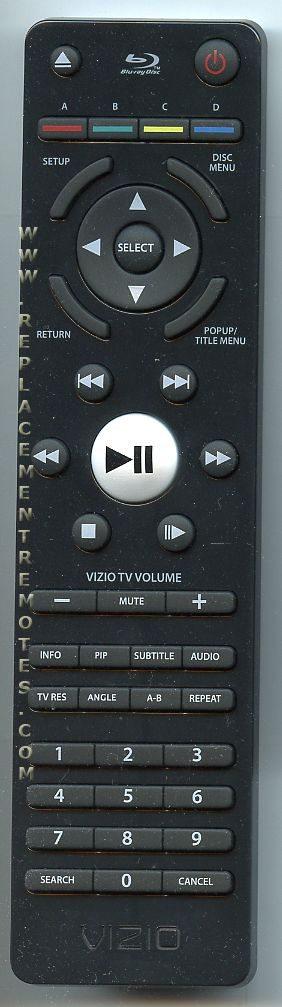 VIZIO VR7A Blu-Ray DVD Player Remote Control
