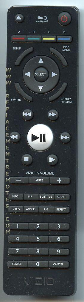 VIZIO VR7A VR7M Blu-Ray DVD Player Remote Control