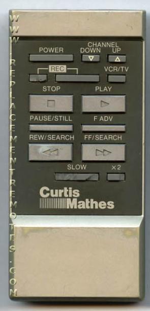CURTIS MATHES VSQS0343 VCR Remote Control