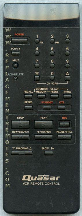 Quasar VSQS0907 VCR Remote Control