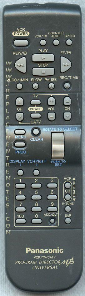Panasonic VSQS1411 TV/VCR Combo Remote Control