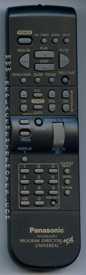 Panasonic VSQS1415 VCR Remote Control
