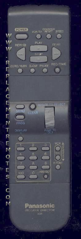 Panasonic VSQS1418 VCR Remote Control