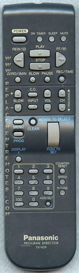 Panasonic VSQS1440 TV/VCR Combo Remote Control