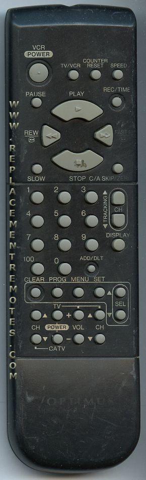 OPTIMUS VSQS1477 VCR Remote Control