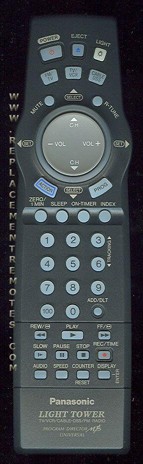 Panasonic VSQS1575 TV/VCR Combo Remote Control