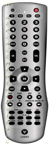 VIZIO VUR4 TV Remote Control