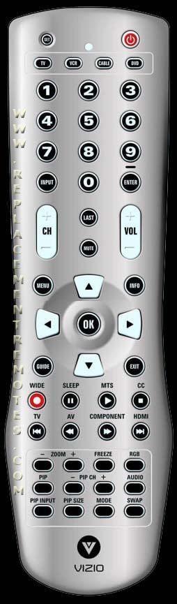 VP50HDTV10A NEW VIZIO Remote Control for  VP42HDTV20A VP50 VP50HDTV20A