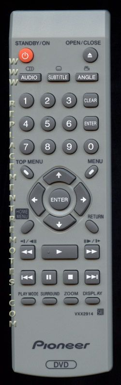 PIONEER VXX2914 DVD Player Remote Control