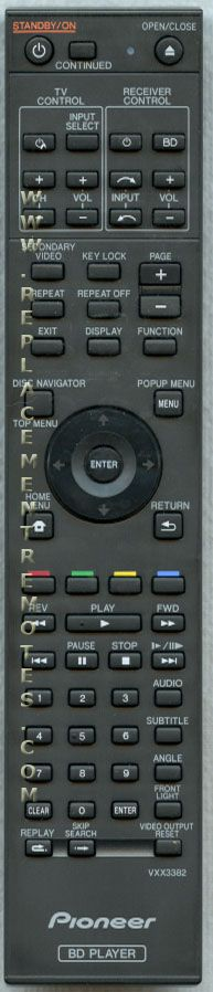 Buy Pioneer Vxx3382 Blu Ray Dvd Player Remote Control