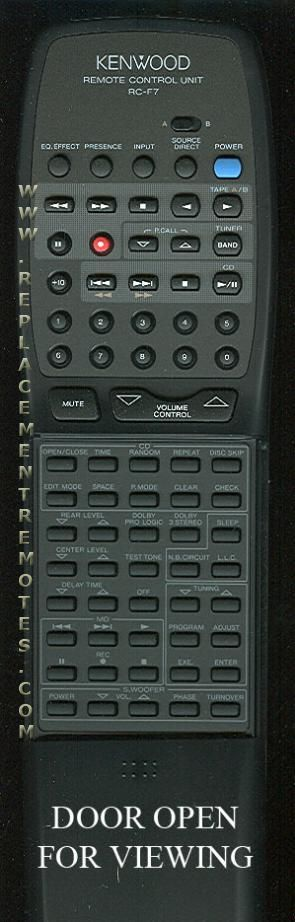 KENWOOD RCF7 Audio System Remote Control