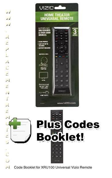 Download FREE VIZIO XRU100 Code Book OnlyOM DC20110512 VZ043 XRU100 CODES  Operating