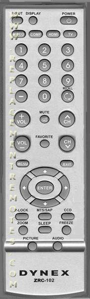 Buy Dynex Zrc 102 Zrc102 098traswanedya Tv Remote Control