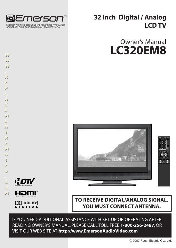 Buy EMERSON Emerson753011OM Emerson LC320EM2 Operating Manual