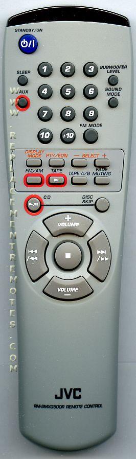 JVC AH5901045F Audio System Remote Control