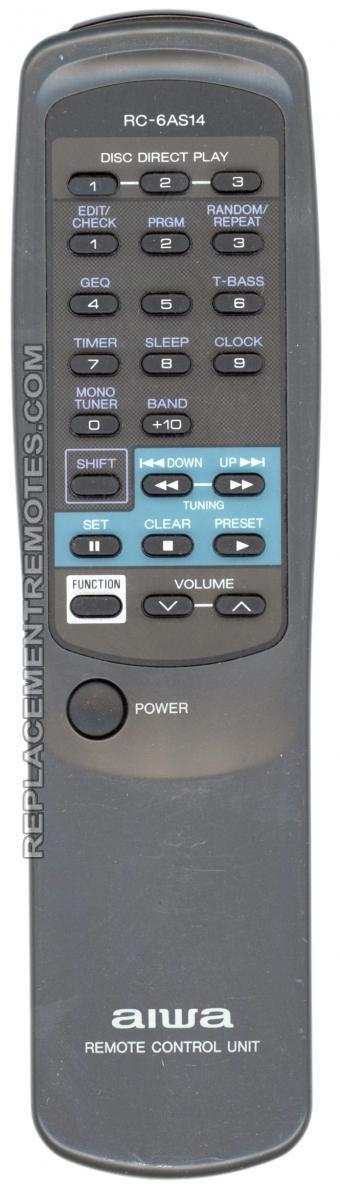 AIWA RC6AS14 Audio System Remote Control