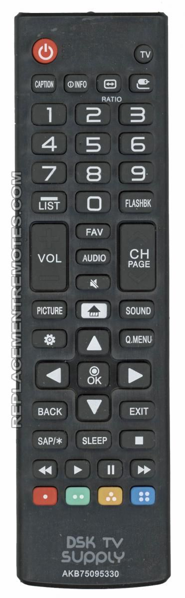 Anderic Generics AKB75095330 For LG TV Remote Control