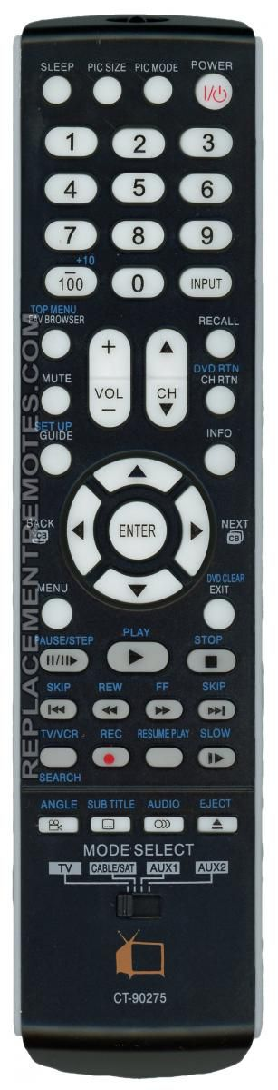Anderic Generics CT90275 For Toshiba TV Remote Control