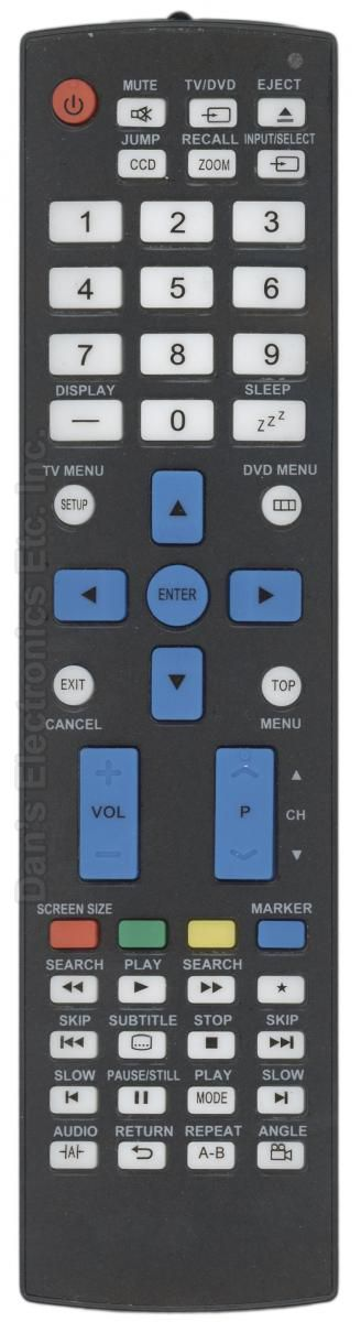 Anderic Generics RRMC1221 TV/DVD Combo Remote Control