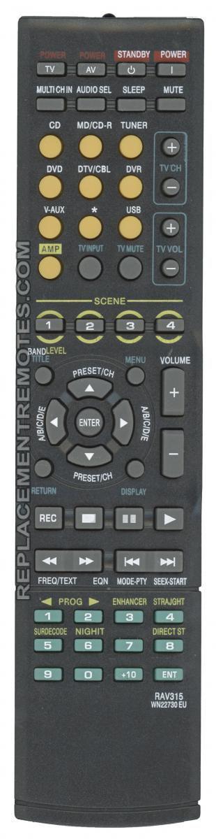 Anderic Generics RRAV315 for Yamaha Audio/Video Receiver Remote Control