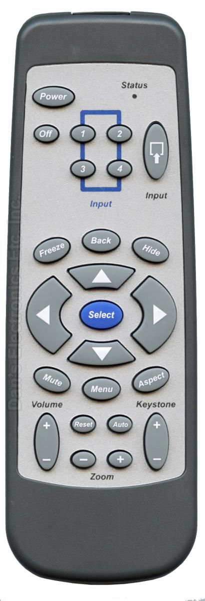 Anderic Generics VP3720 Universal Projector Remote Control