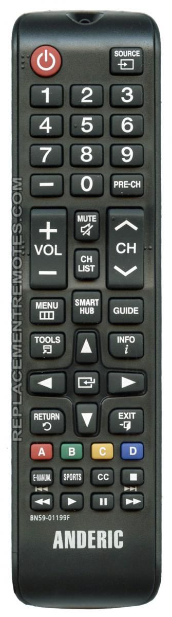 Buy Anderic Bn5901199f For Samsung Bn5901199f Tv Remote Control