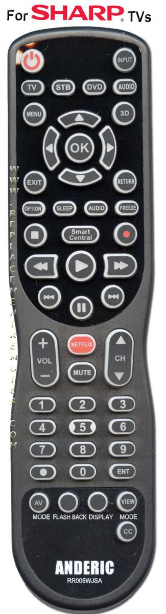 ANDERIC RR005WJSA Universal Sharp TV Remote Control