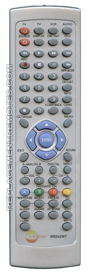 Buy ANDERIC RR242WT Sharp -RR242WT TV Remote Control