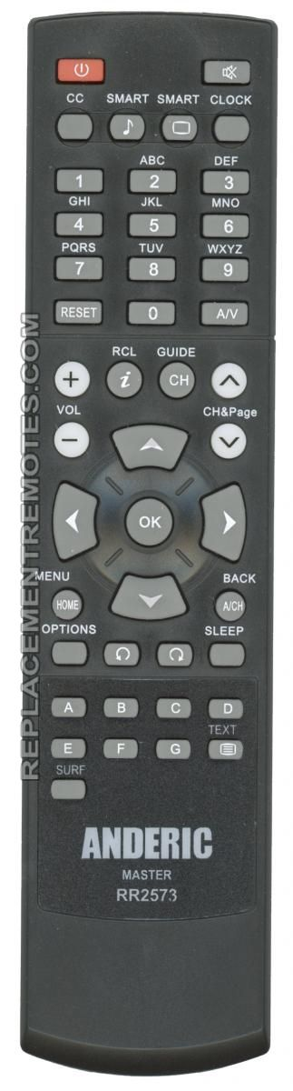 Buy Anderic Rr2573 Philips Mastersetup Rr2573 Commercial Tv Remote