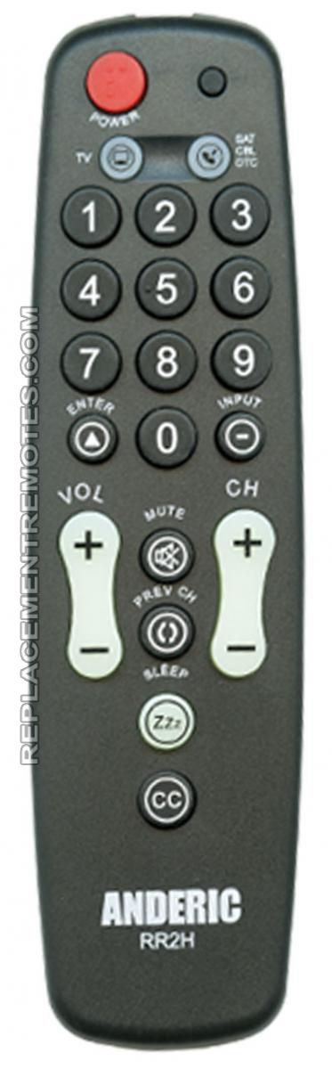 ANDERIC RR2H Simply Cable Box 2-Device Universal Remote Control