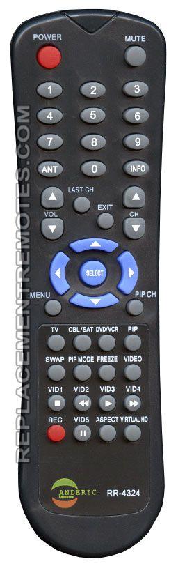 ANDERIC RR4324 for Hitachi TV Remote Control