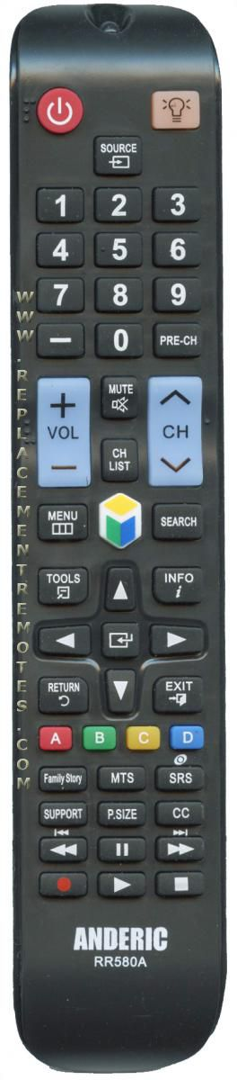 buy anderic rr580a for samsung rr580a tv remote control rh replacementremotes com